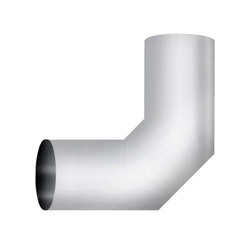 "Aluminized Elbow, 4""  Diameter, UNIVERSAL 90° Sectioned Application, 4"" OD X 4"" OD 10"" X 10"" Length"