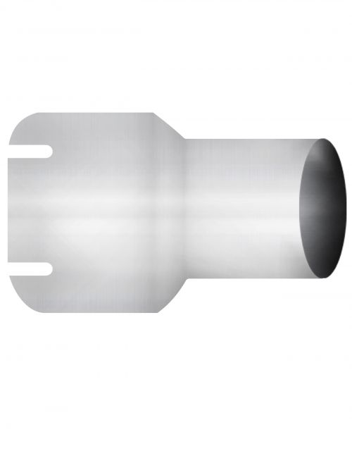 "Aluminized Coupler, 5""  Diameter, UNIVERSAL  Application, 5"" ID X 4"" OD, 8"" Length"