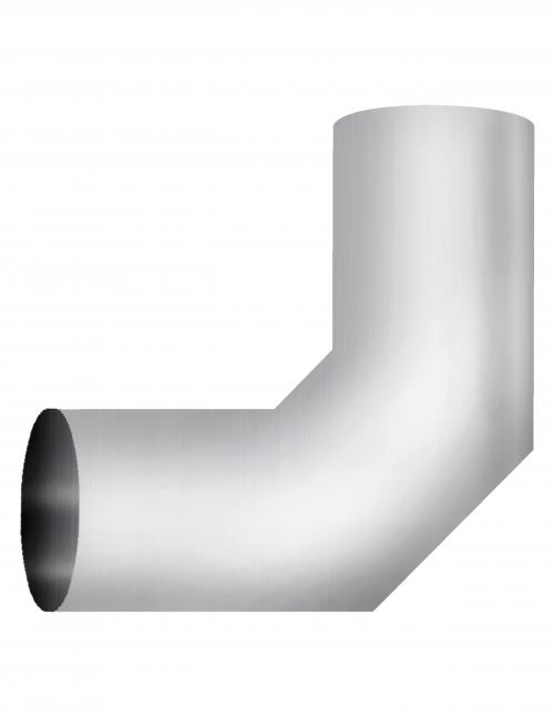 """Aluminized Elbow, 5""""  Diameter, UNIVERSAL 90° Sectioned Application, 5"""" OD X 5"""" OD 11"""" X 11"""" Length"""
