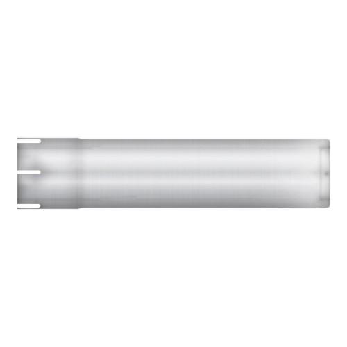 """Straight Stub, 4"""" Diameter, 17 3/4"""" Long, Aluminized, Flared End"""